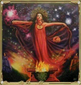 Ugund un transformāciju dieviete.